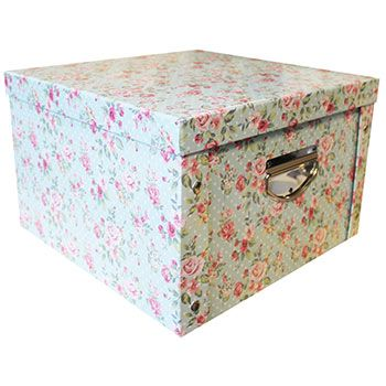 Vintage Floral Collapsible Storage Box | Storage Boxes At The Works