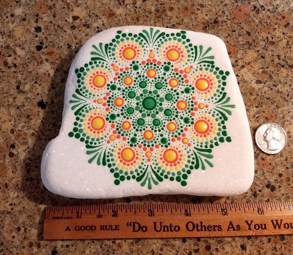 Hand painted santorini stone