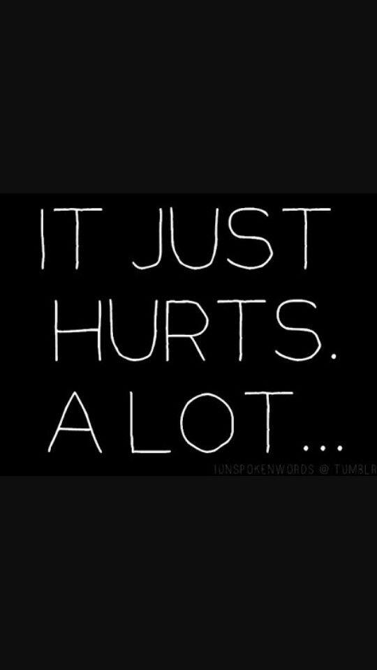 """It just hurts. A lot.""☹ #Quotes #Hurt #SadMay 26-2016 ..."