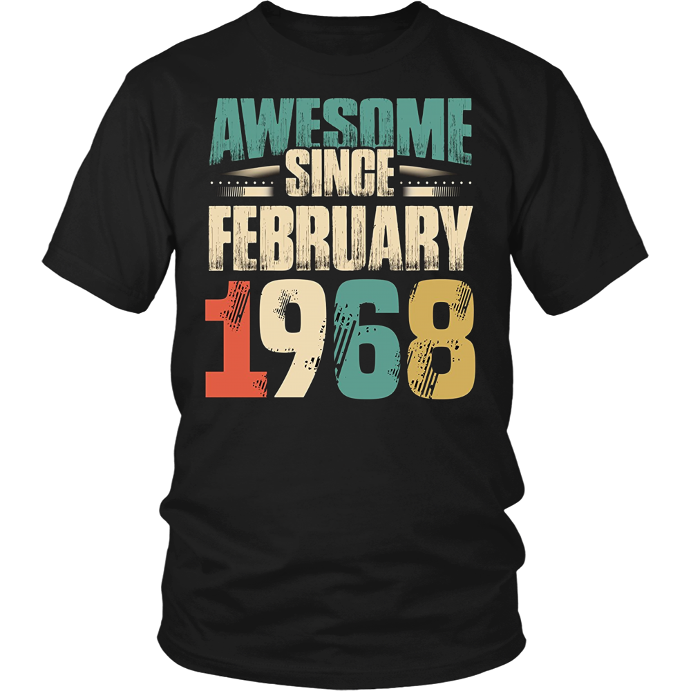 Awesome Since February 1968 T Shirt 50th Birthday Shirts