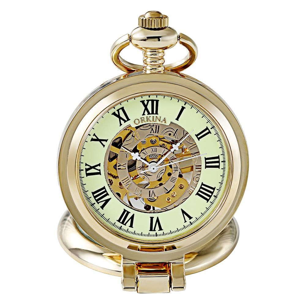 Steampunk Watch with open mechanics This pocket watch