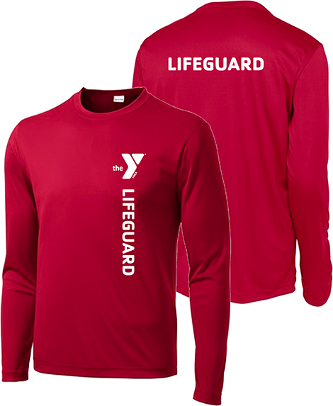 ce506fbfe703 Lifeguard shirt - YMCA Apparel Store - Long sleeve dri-fit polyester YMCA lifeguard  shirt