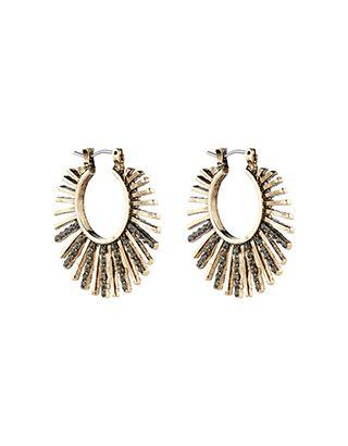 Phoenix Sparkle Hoop Earrings