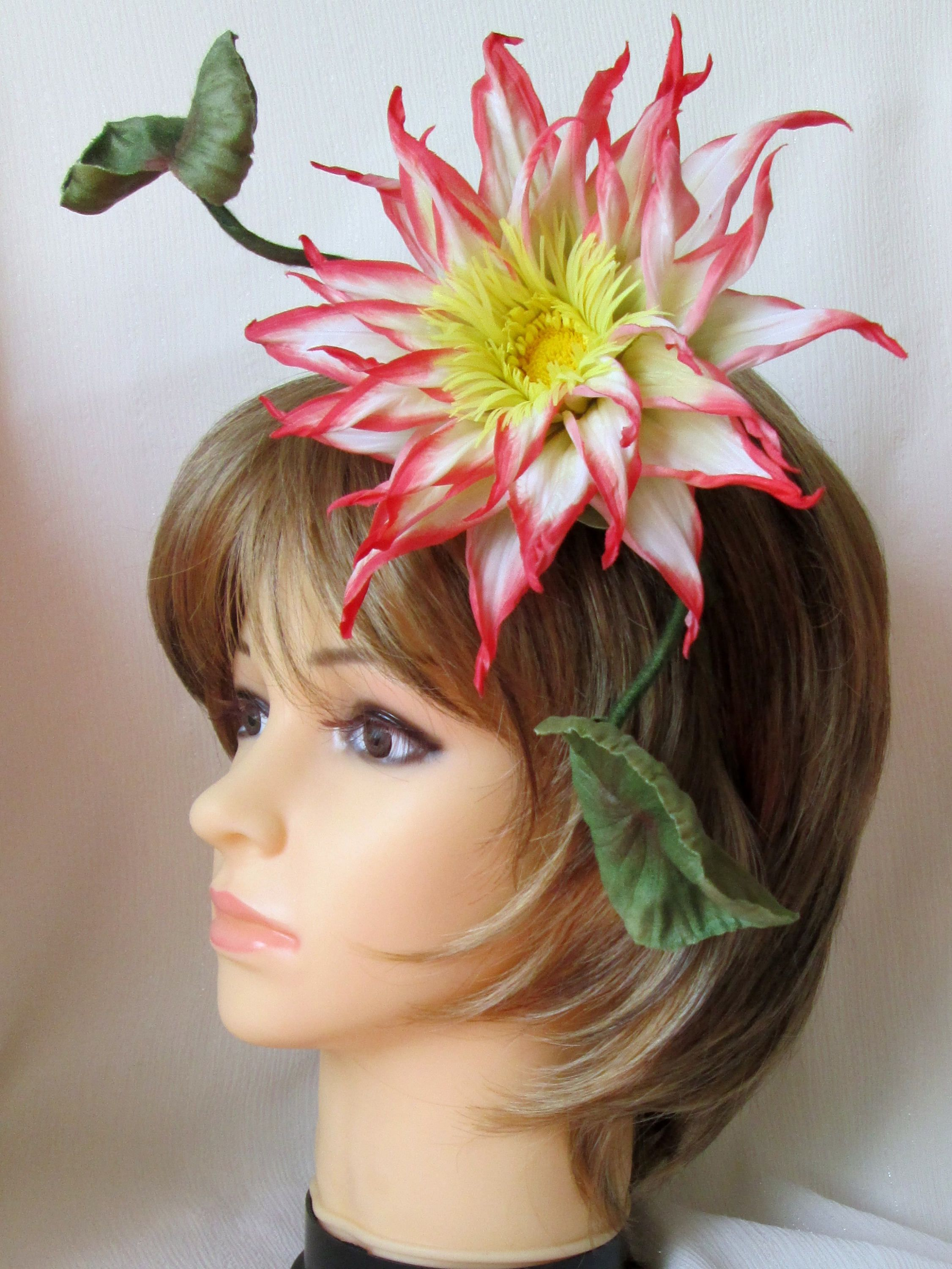 Lotus Fascinator Headband Flower Crown Silk Flower Lotus Handmade