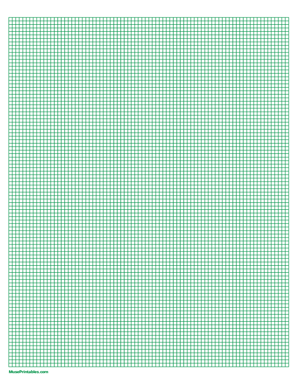 Printable 1 10 Inch Green Graph Paper For Letter Paper Download It At Https Museprintables Com Download Paper Graph Paper Letter Paper Printable Graph Paper