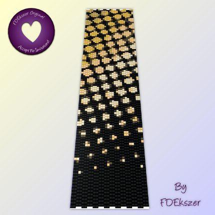 Goldfrapp - Peyote Stitch Beading Pattern for cuff bracelet - PDF - bp68 / buy any 2 patterns GET 1 FREE special offer. $6.50, via Etsy.