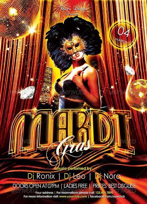 1 Graphicriver Mardi Gras Flyer Templateeg 500695 Mardi Gras