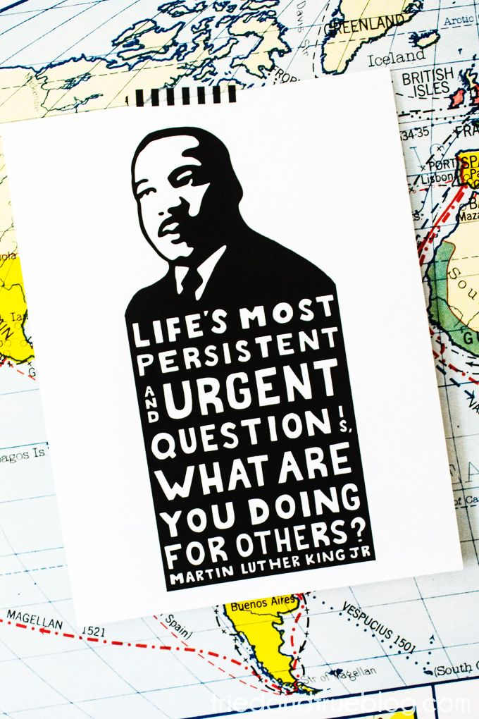 Free File FriYAY!: Martin Luther King Jr Free Printable - Tried & True Creative