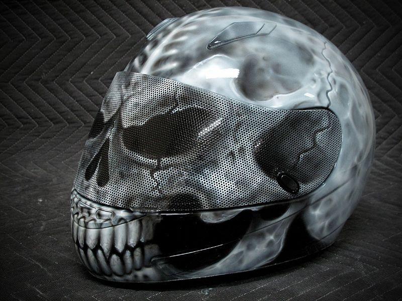 Custom Motorcycle Helmets Skull Motorcycle Helmet II Custom - Custom motorcycle helmet stickers and decalssimpson motorcycle helmets