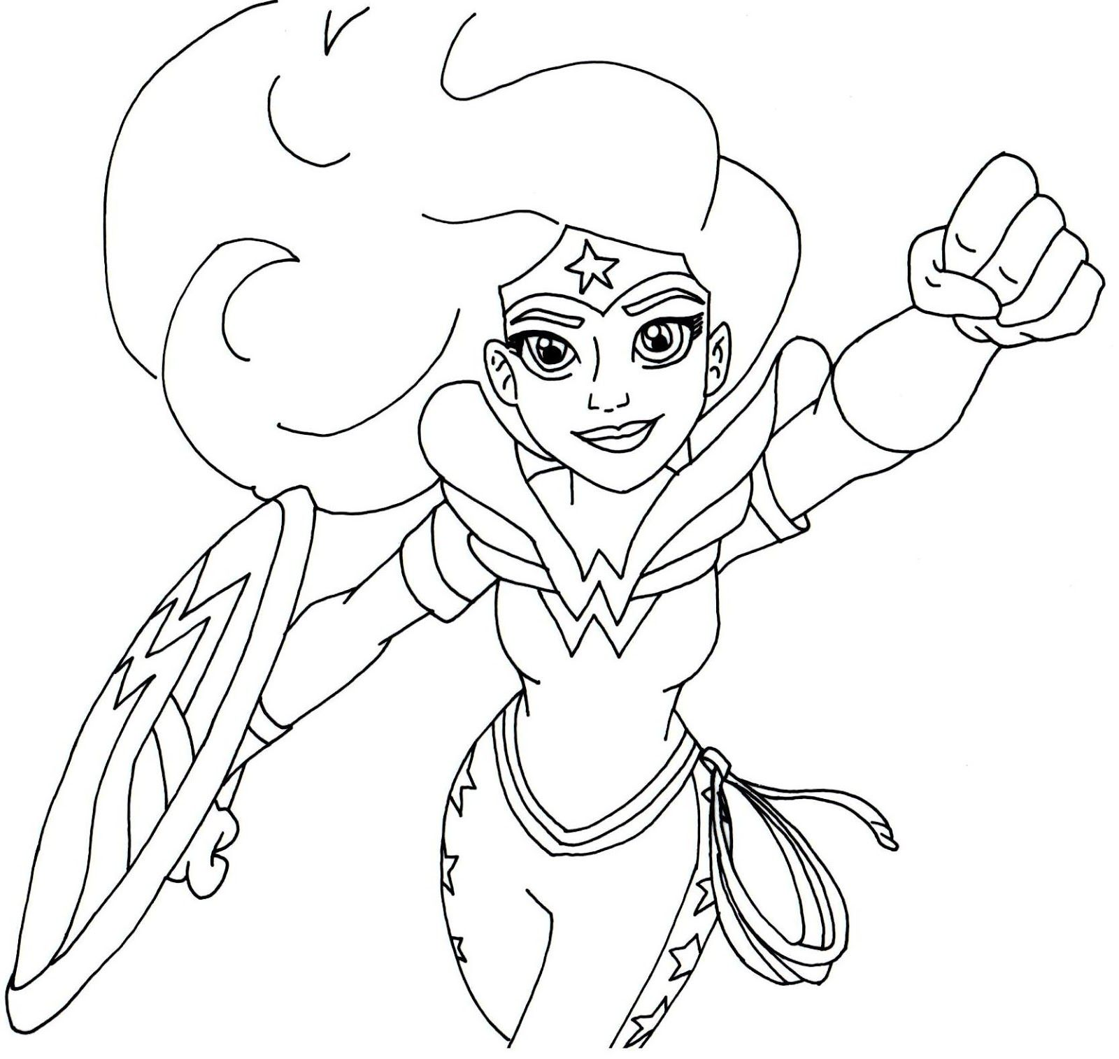 Coloring Pages For Girls: Free Printable Super Hero High Coloring Page For Wonder