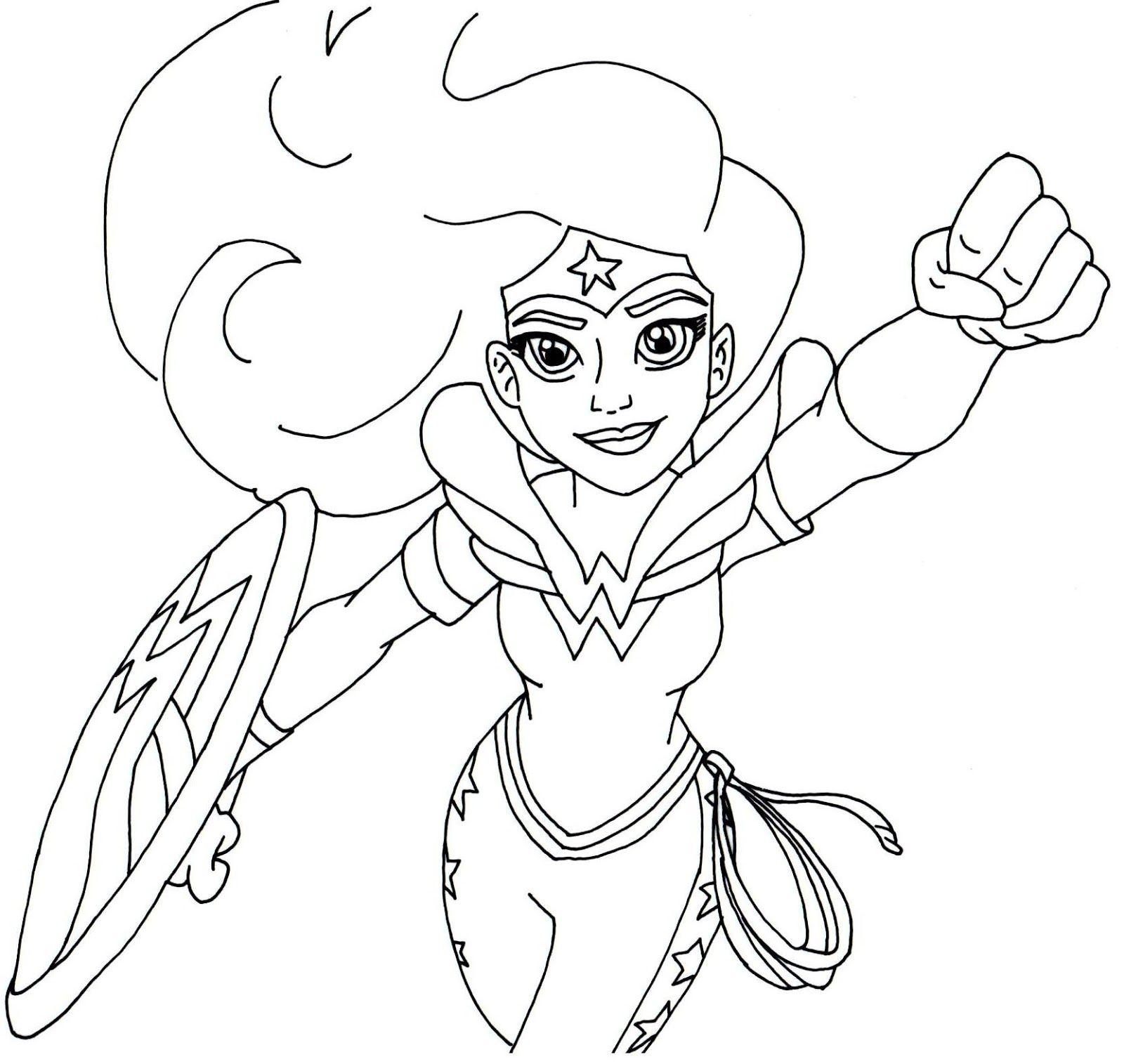 wonder woman super hero high coloring page  superhero