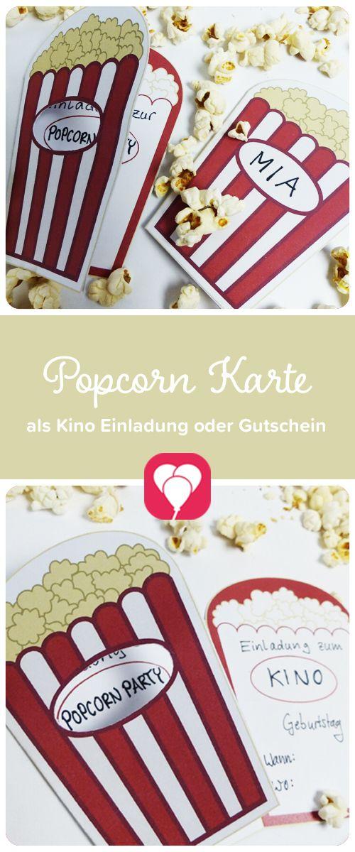 Popcorn Karte als Gutschein Du suchst noch nach einem passenden