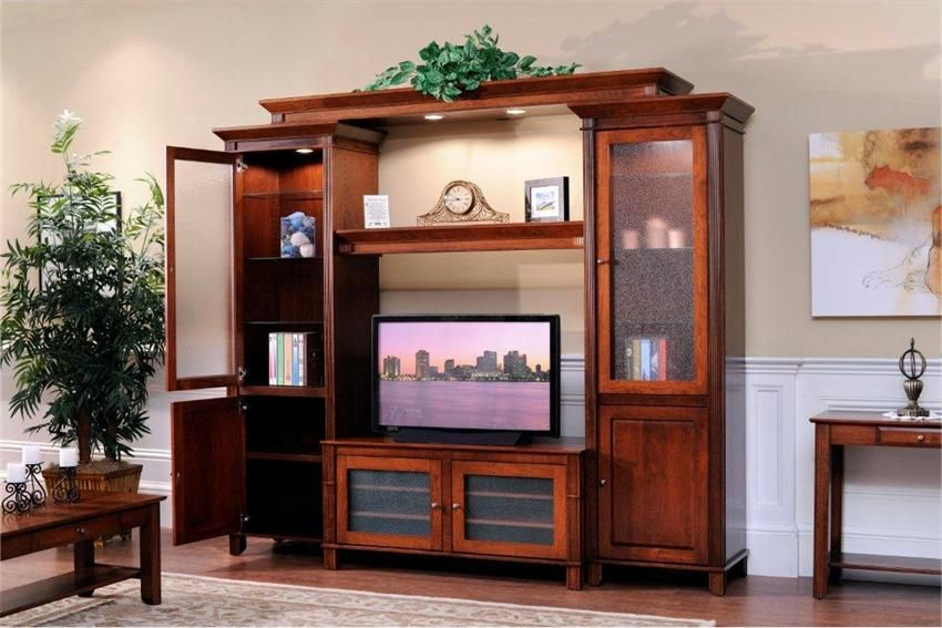 Corner Showcase Designs For Living Room Delectable Amish Arlington Entertainment Center  Entertainment Center Wall Decorating Design