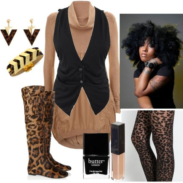 """Black Leopard"" by virtuousvessel on Polyvore"