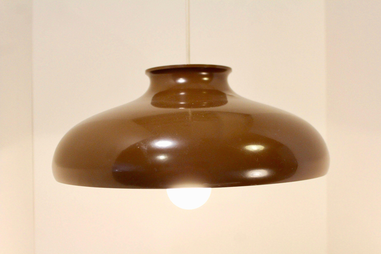 Vintage 1970s Bent Karlby Fur Lyfa Of Denmark Etsy Vintage Chocolate Brown Colour Lamp