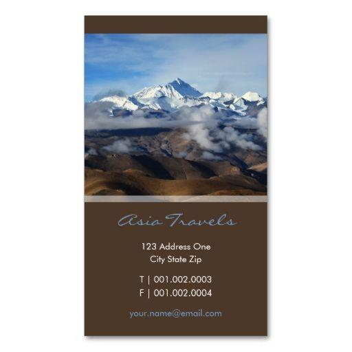 Tibet qomolangma mt everest china travel photo business card tibet qomolangma mt everest china travel photo business card reheart Image collections