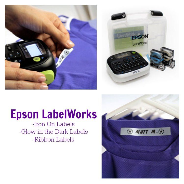 Epson LabelWorks Kits and Craft Ideas -I love this label maker!!!  Glow in the dark labels, Ribbon labels, Iron On Labels!  SO COOL!!!!  #Organization