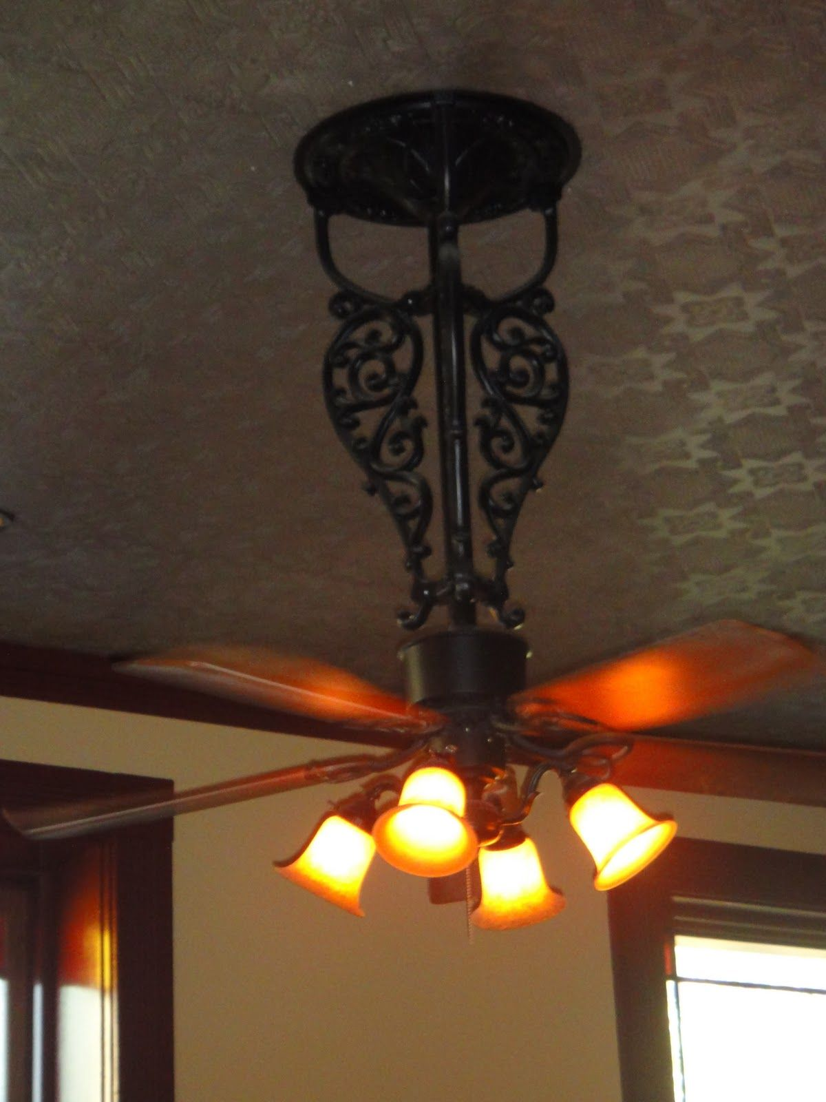 Wrought iron ceiling fan for the home pinterest wrought iron wrought iron ceiling fan aloadofball Gallery