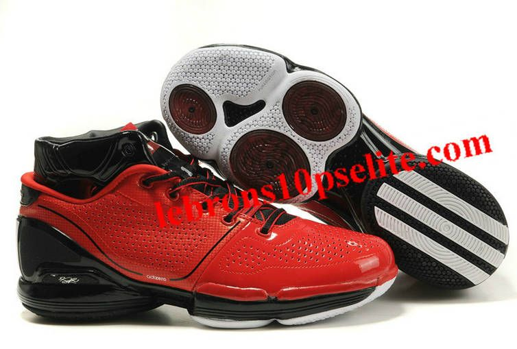 new arrival 2a015 6a30a Derrick Rose Shoes - Adidas Adizero Rose 1.0 Red Black