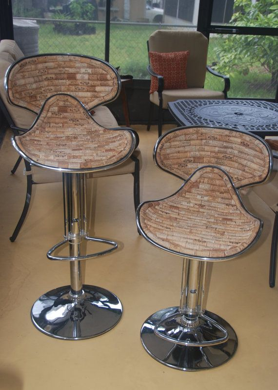 Wine Cork Bar Stool By Gulfcoasters On Etsy 250 00 How Fun Are These Bar Stools Wine Cork Cork