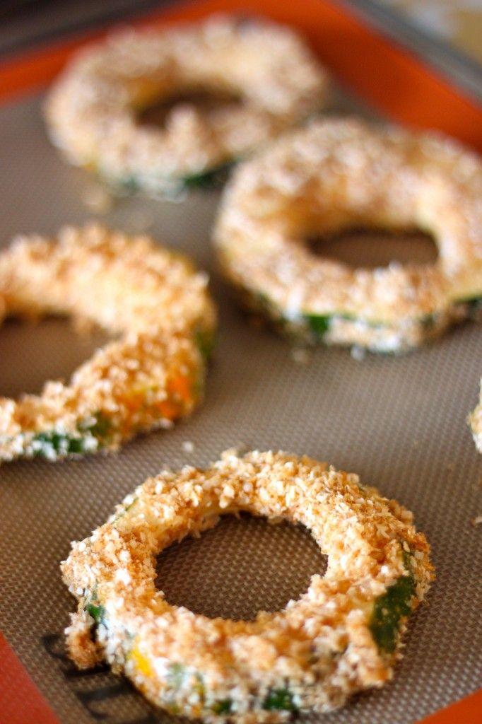 Baked Coconut Acorn Squash Rings