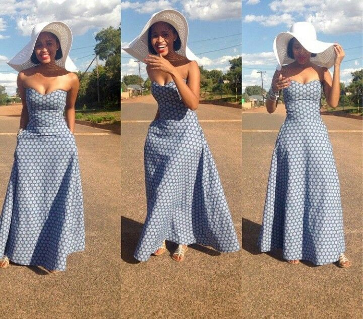 African Traditional Wedding Dress Tswana Simple And Beautiful