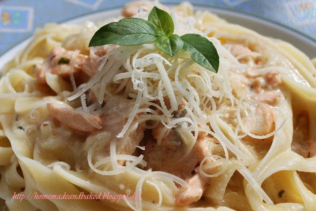 homemade and baked Food-Blog: Tagliatelle mit Lachs-Sahne-Soße