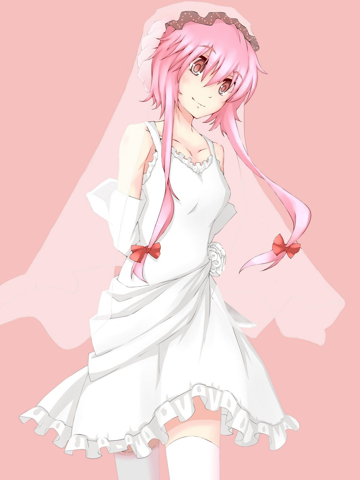 Yuno looks so cute in a wedding dress. I feel sorry the Yuki was ...