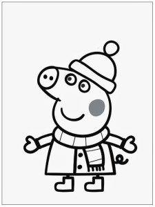 Dibujos De Peppa Pig En Espaol Gratis abrigo  IMAGENES DE