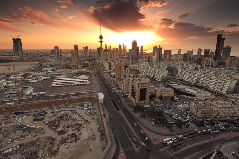 Kuwait City Warm Sunset Kuwait City City The Beautiful Country