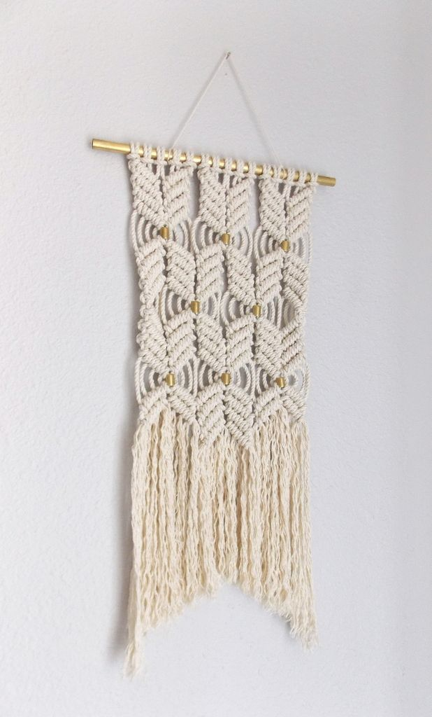 "Modern macrame, Rope art, ""HANE no.4"" HIMO ART by May Sterchi, Wall Hanging"