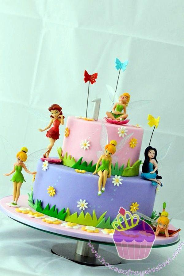 45 Magnificent Birthday Cake Designs For Kids Greenorc Tinkerbell Birthday Cakes Tinkerbell Cake Fairy Birthday Cake