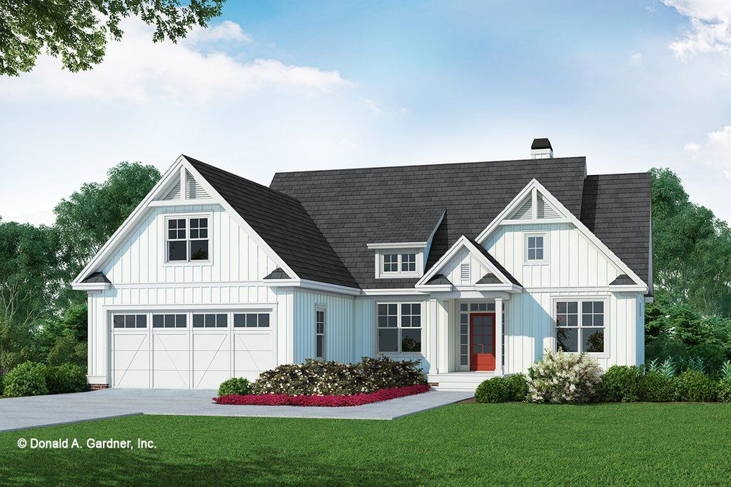 Farmhouse Style House Plan 3 Beds 2 Baths 1570 Sq Ft Plan 929 1106 In 2021 Modern Farmhouse Floorplan Farmhouse Style House Plans Farmhouse Style House