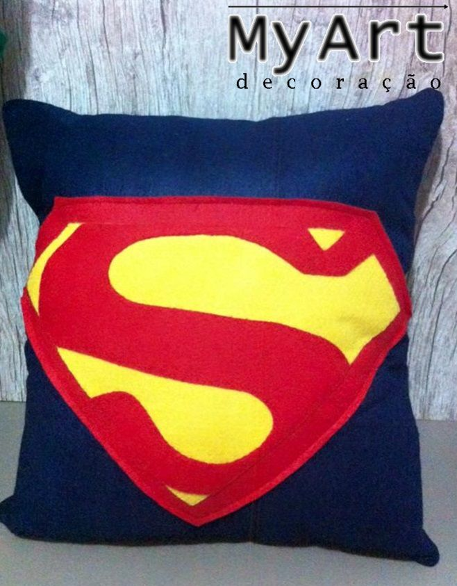 Almofada de Feltro - Super Homem