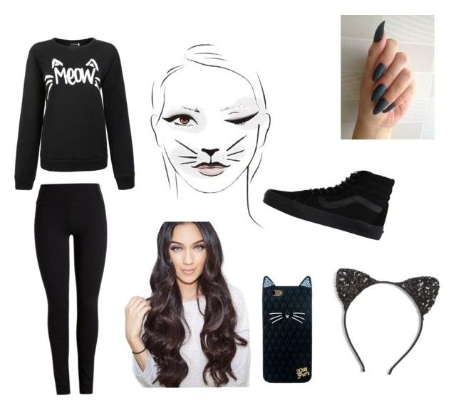 """Cat Costume"" by heyitzfran on Polyvore featuring Cara and Vans"