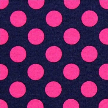 403 No Beer For You Pink Polka Dots Dotted Fabric Blue Dot