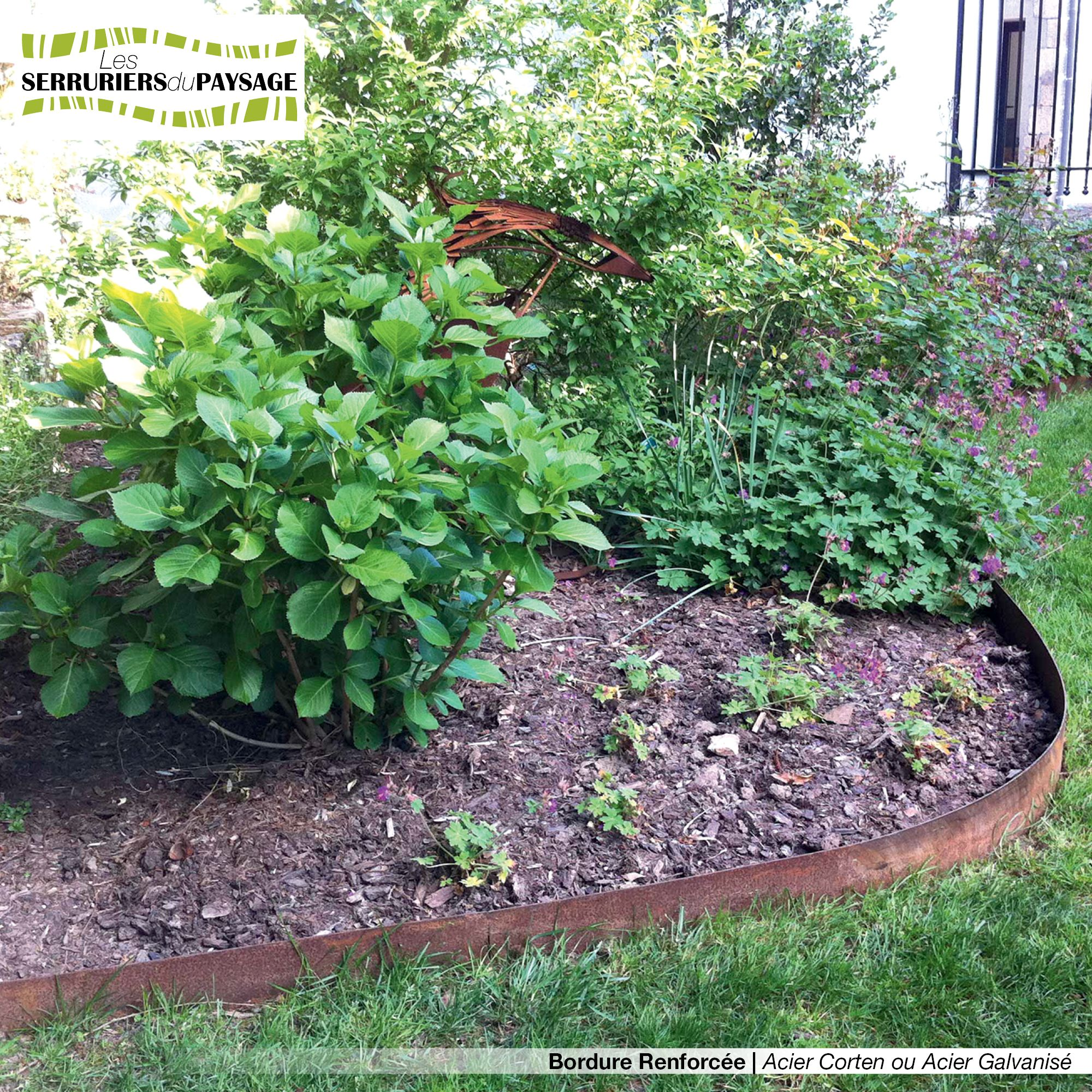 bordure de jardin en t le acier galvanis ou t le acier. Black Bedroom Furniture Sets. Home Design Ideas