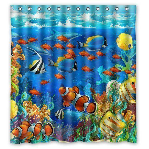 Winterby Custom Blue Ocean Tropical Fish Coral Undersea World