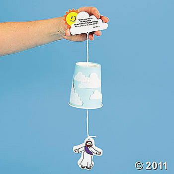 Ascension of Jesus Crafts for Kids. Do along with Jesus's Easter story. Printable risen Jesus too