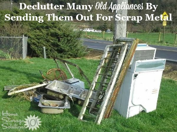 Large Appliance Disposal Removal Guide Home Storage Solutions Scrap Metal Large Appliances