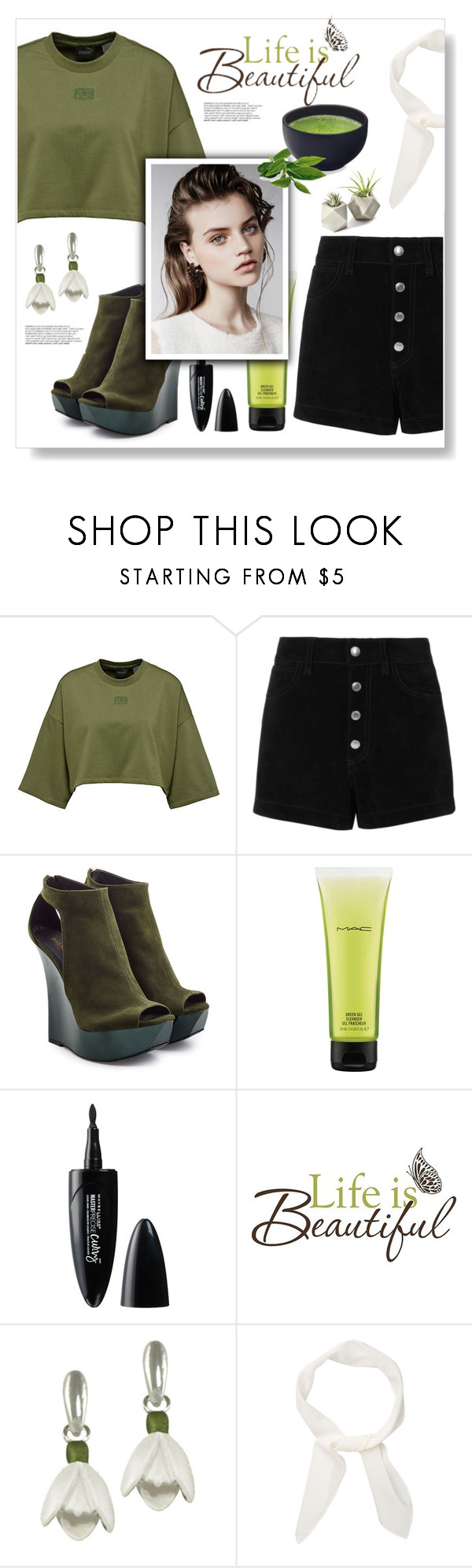 """""""pure night"""" by omniaasaad ❤ liked on Polyvore featuring rag & bone/JEAN, Balmain, MAC Cosmetics, Maybelline, Brewster Home Fashions and Chloé"""