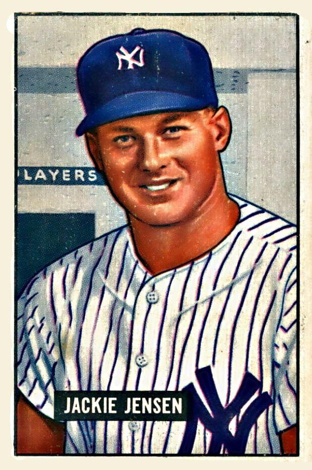 254 Jackie Jensen Rc New York Yankees B Bowman