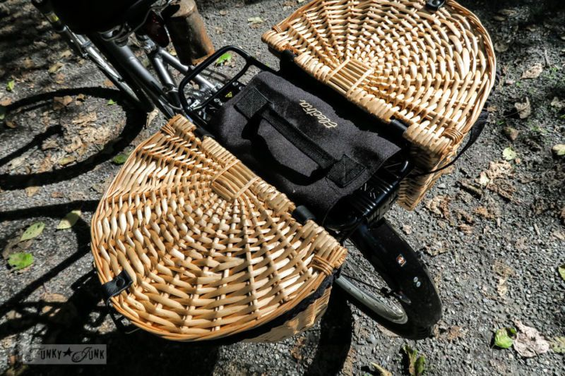 Wicker pannier rear baskets / How finding the RIGHT bicycle for YOU will change your world! My own experience, shopping tips, what I got and where to find it! And where I go with it... Fun and informative post! By Funky Junk Interiors for Ebay