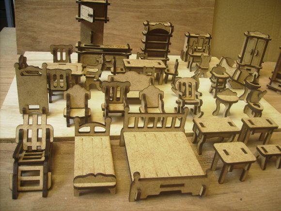 kit moveis miniaturas- 40 peças montadas