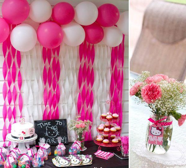 стена на день рождения для девочки