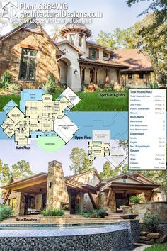 Plan 16884wg distinctive cottage with lanai and courtyard for Courtyard driveway house plans