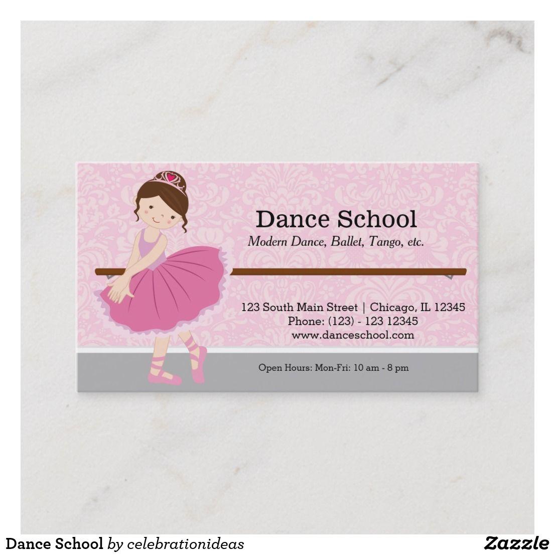 Dance School Business Card Zazzle Com Dance School Business Card Modern Personal Business Cards