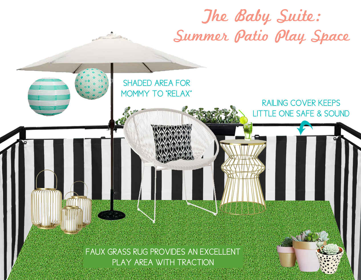 Love & Lace: Toddler-friendly balcony  Toddler play area, Patio