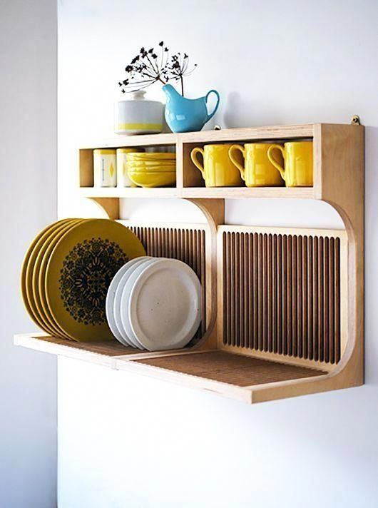 Beautiful Dish Rack Ideas For Your Small Kitchen 30 #dishracks