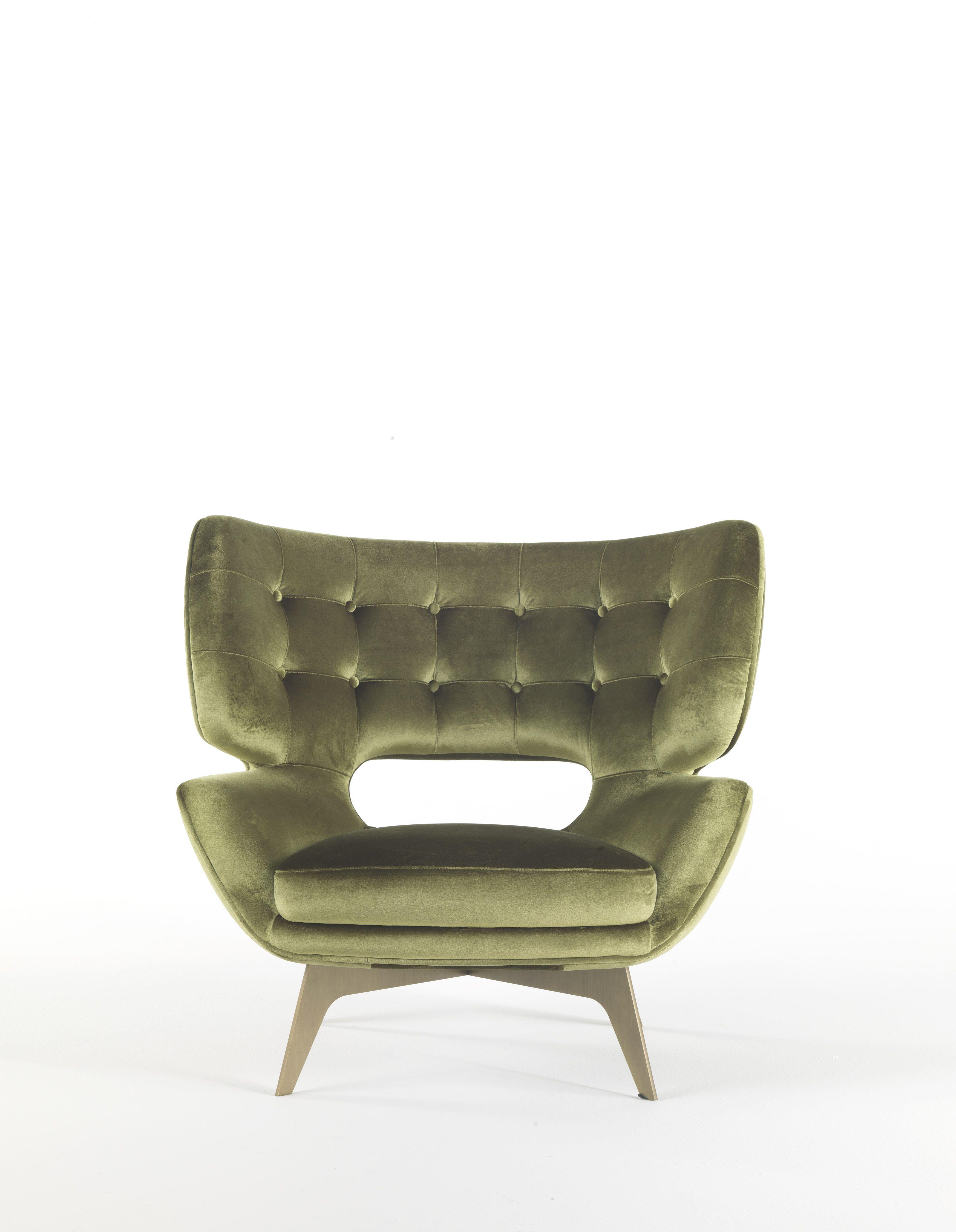 Green Velvet Armchair Roberto Cavalli Home Interiors